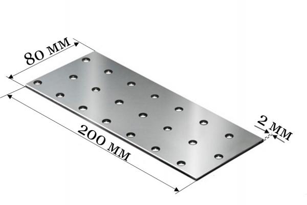 Пластина соединительная PS 80*200*2 мм