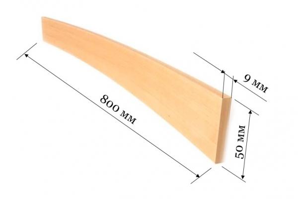 Ламель для кроватей и диванов 800*50*9 мм