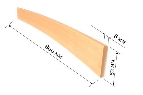 Ламель для кроватей и диванов 800*53*8 мм