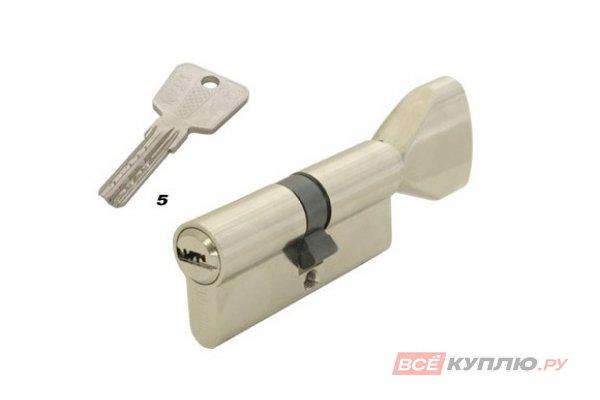 Механизм цилиндровый TITAN K5 E 65 (35/30) NI никель (812)