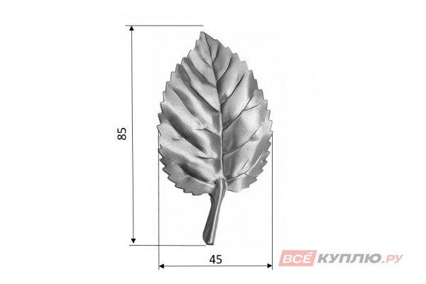 Лист 85*45 мм ≠0,3 мм штампованный (138/10)