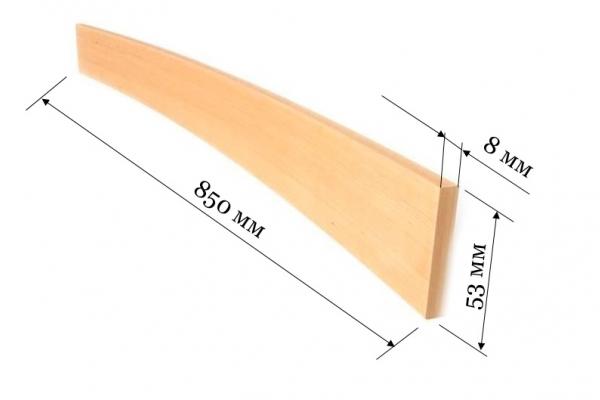 Ламель для кроватей и диванов 850*53*8 мм