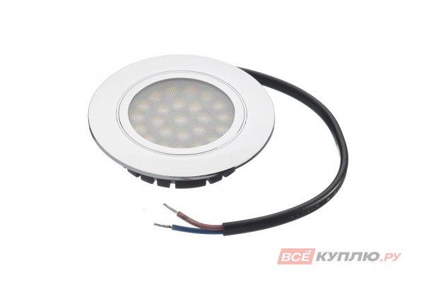 Точечный встраиваемый светодиодный светильник LED Polo 4W, 220V, хром, нейтральный белый (14025)