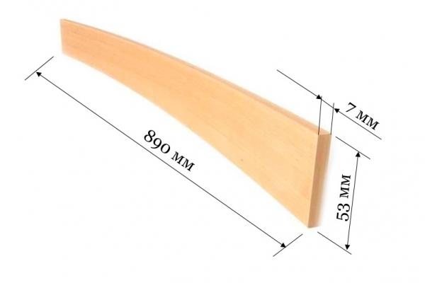 Ламель для кроватей и диванов 890*53*7 мм