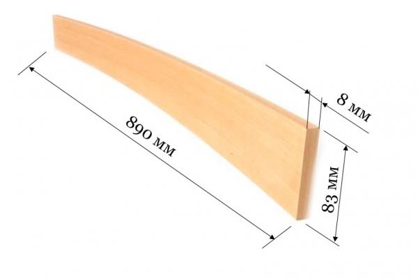 Ламель для кроватей и диванов 890*83*8 мм