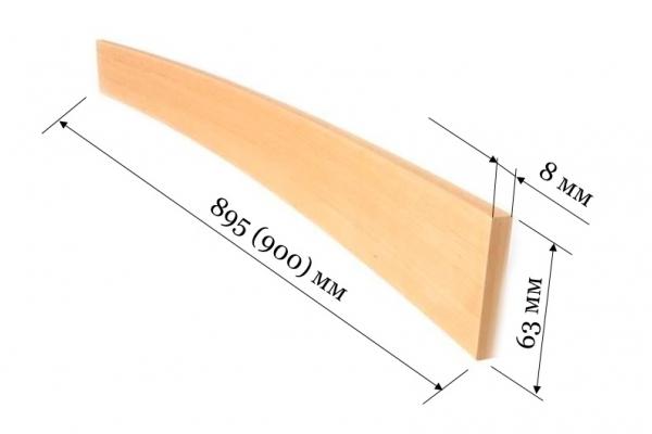 Ламель для кроватей и диванов 900 (895*63*8 мм)
