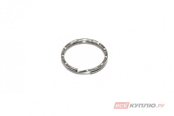 Кольцо для ключей АЛЛЮР большое фигурное d=30 мм (3099)