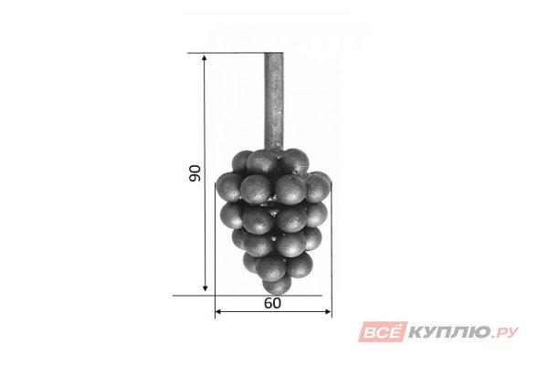 Виноград 90*60 мм (6437 м.гл)