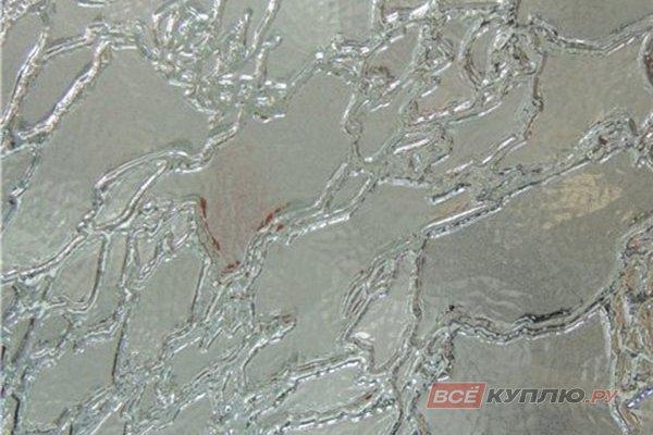 Стекло узорчатое бесцветное Дельта 2550*1605*4 мм (цена за лист)