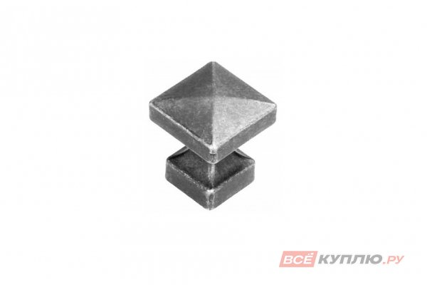Ручка кнопка GAMET GR47-G0031 старое серебро