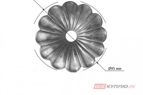 Цветок Ø95 мм ≠3 мм штампованный (116/А/3)