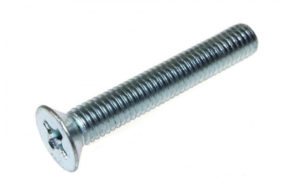 Винт потай Ph DIN 965 6*35 мм шлиц цинк