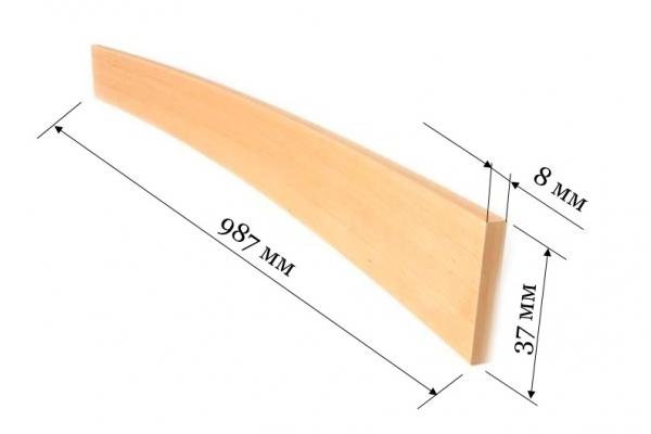 Ламель для кроватей и диванов 987*37*8 мм