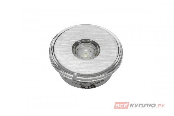 Точечный встраиваемый светодиодный светильник Torino круглый 1W, 12V, холодный свет (7049)