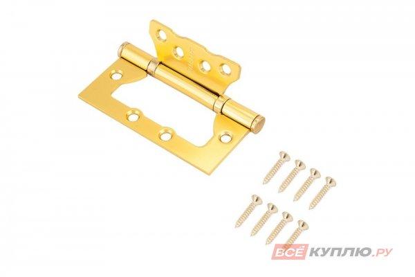 Петля дверная Стандарт 2BB SBR 100*75*2,5 матовое золото