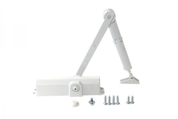 Доводчик дверной универсальный DORMA TS Compakt (до 120 кг) морозостойкий белый