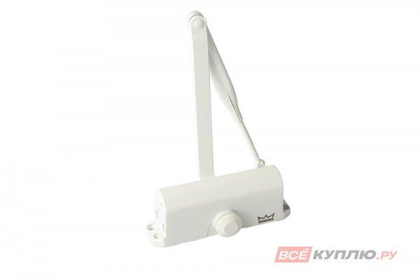 Доводчик дверной DORMA TS77 с рычагом, EN3 (до 70 кг, В≤950 мм) белый