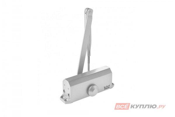 Доводчик дверной DORMA TS77 с рычагом EN4 (до 90 кг, В≤1100 мм) серебро