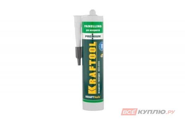Клей монтажный KRAFTOOL KraftNails Premium KN-604, для молдингов, панелей и керамики, без растворителей 310 мл (41349_z01)