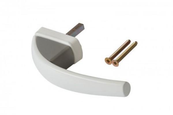 Ручка оконная Roto Swing белая+металлик (Vario2)