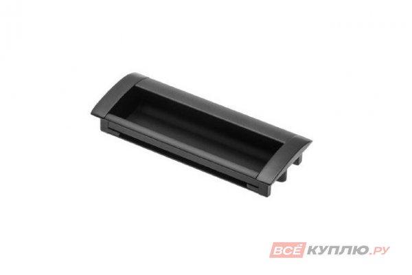 Ручка врезная мебельная алюминиевая UA-OO-326/096 черный матовый