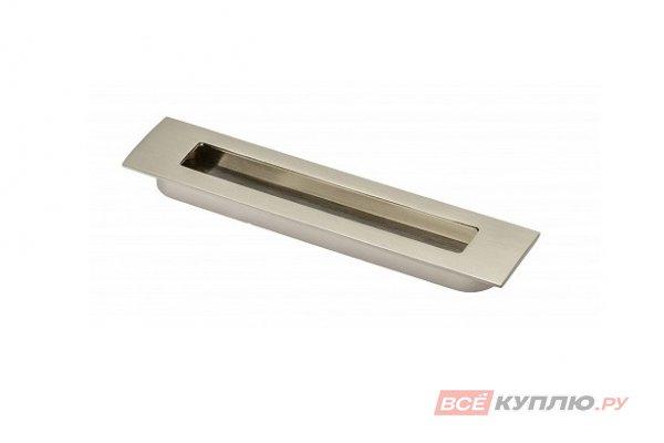 Ручка врезная мебельная UZ-E6-128-06 инокс