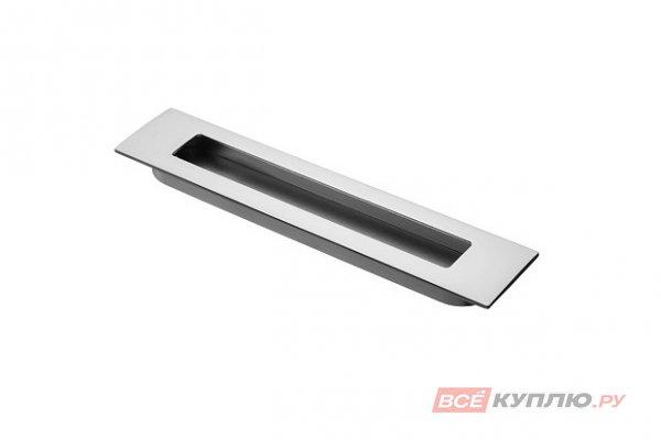 Ручка врезная мебельная UZ-E6-160-05 алюминий