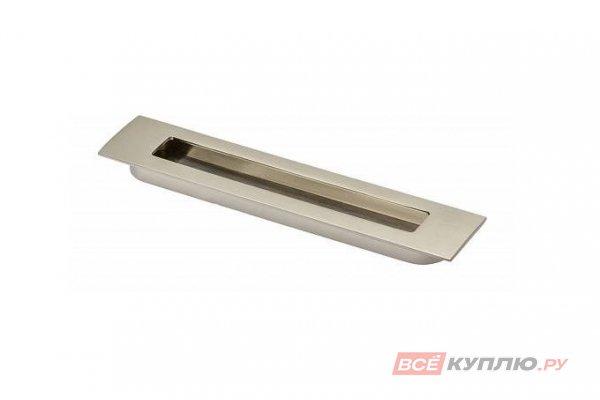 Ручка врезная мебельная UZ-E6-160-06 инокс