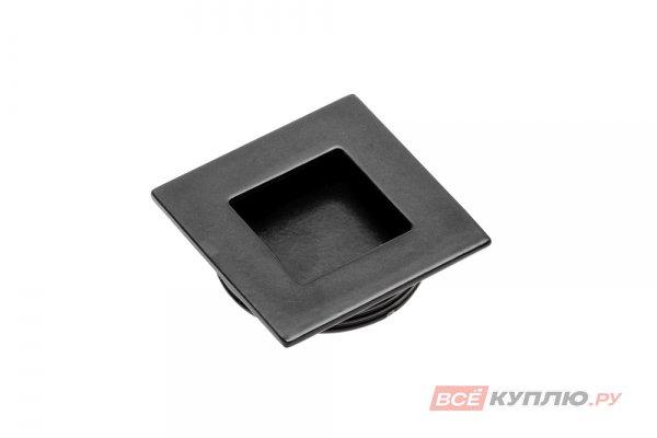 Ручка врезная мебельная квадратная 40х40 мм UZ В226 черный
