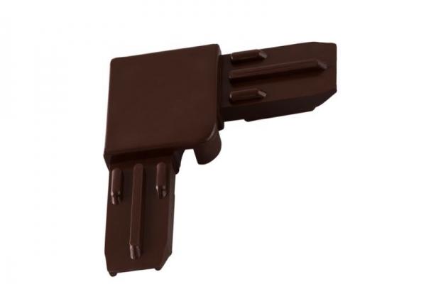 Соединительный уголок для профиля, коричневый