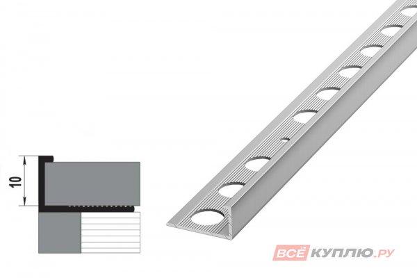 Профиль окантовочный серебро ПК 01.2700 мм