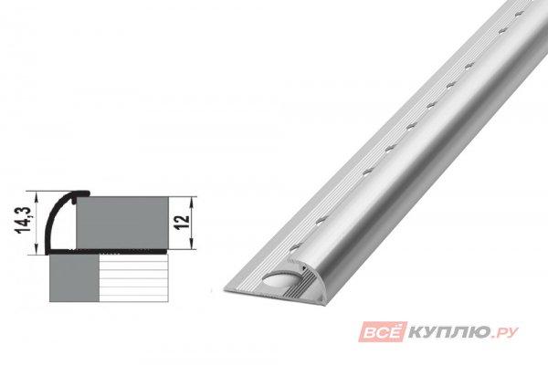 Профиль окантовочный серебро ПК 03-12 2700 мм