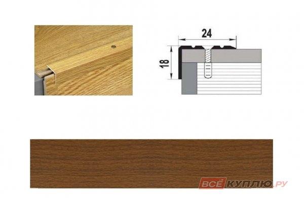 Профиль угловой ПУ-03 1350 мм орех