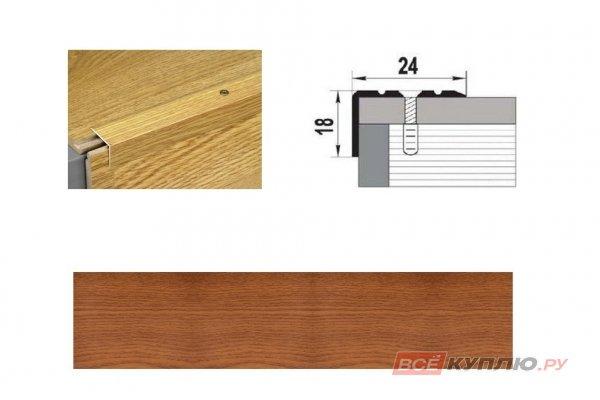 Профиль угловой ПУ-03 900 мм вишня