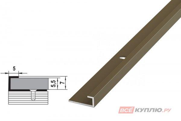 Профиль окантовочный бронза ПК 05-2.2700 мм