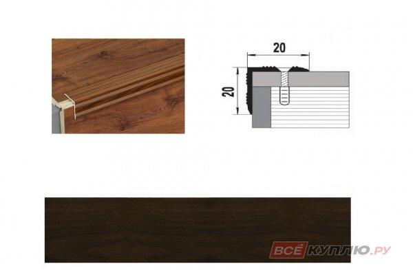 Профиль угловой ПУ-05 900 мм венге