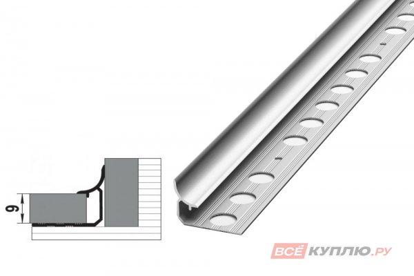 Профиль окантовочный серебро ПК 06-9.2700 мм