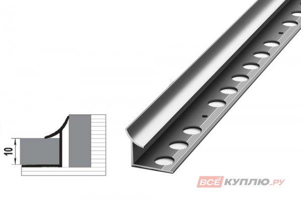 Профиль окантовочный серебро ПК 06.2700 мм