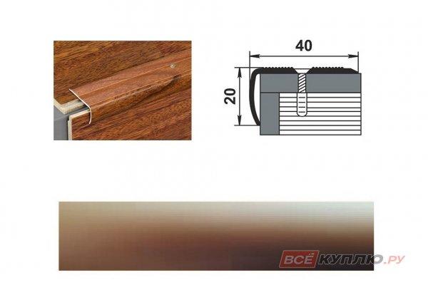 Профиль угловой ПУ-06 900 мм бронза