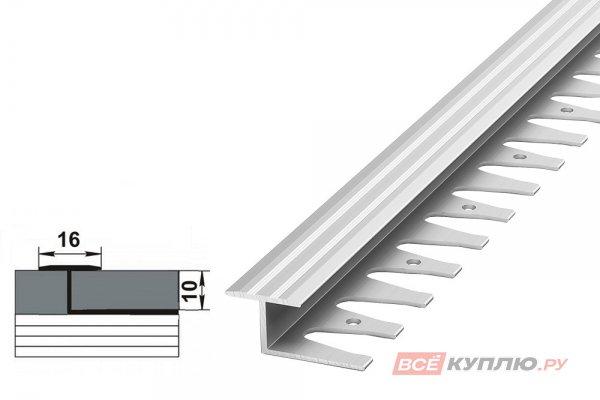 Профиль окантовочный серебро ПК 15.2500-2700 мм