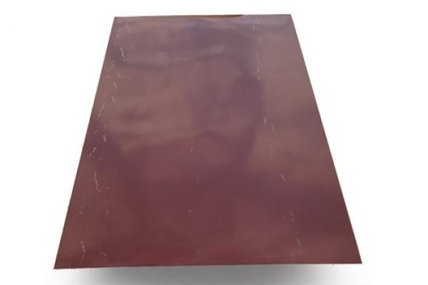 Лист окрашенный плоский 0,45 мм 1250*2000 мм коричневый (RAL8017)