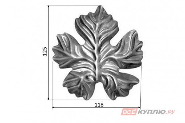 Лист 125*118 мм ≠2 мм штампованный (5222.01)