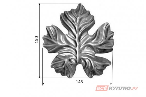 Лист 150*143 мм ≠2 мм штампованный (5223.01)