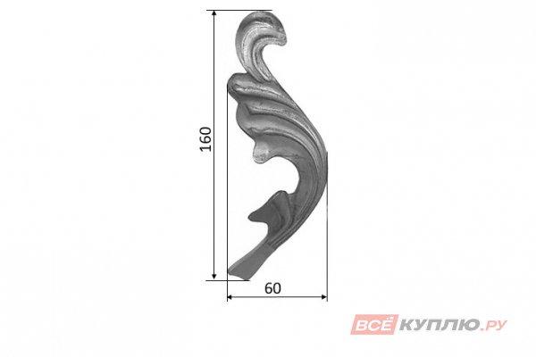 Лист 160*60 мм ≠2 мм штампованный (136/11Р)