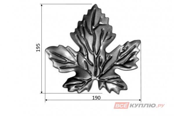 Лист 195*190 мм ≠0,5 мм штампованный (138/13)