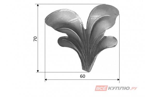Лист 70*60 мм ≠3 мм штампованный (136/3)