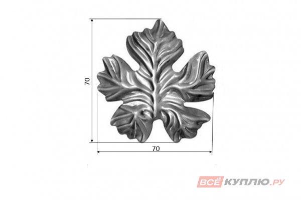 Лист 70*70 мм ≠2 мм штампованный (5220.01)