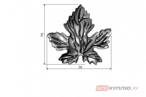 Лист 75*70 мм ≠0,5 мм штампованный (138/11)