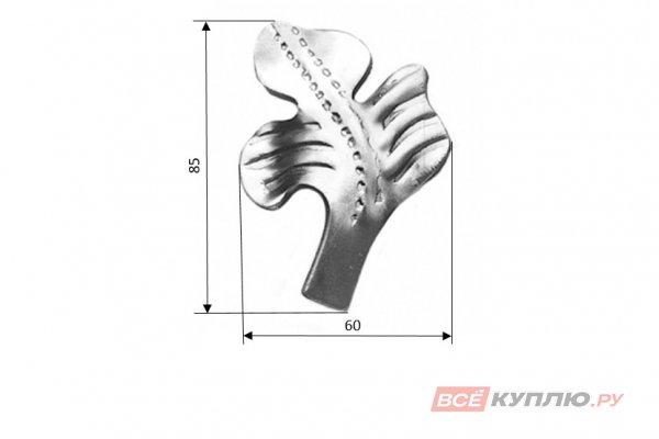 Лист 85*60 мм ≠3 мм штампованный (675/9)