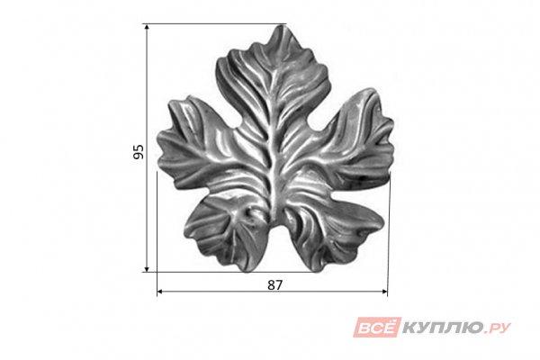 Лист 95*87 мм ≠2 мм штампованный (5221.01)